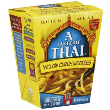 A Taste of Thai Yellow Curry Noodles Quick Meal, 4.5-Ounce Boxes (Pack of 6)