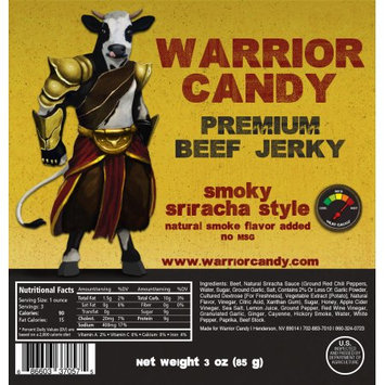 Warrior Candy Premium Beef Jerky Sriracha