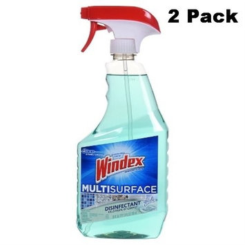 Windex Multisurface Disinfectant Cleaner (Glade Rainshower) 26oz (2)