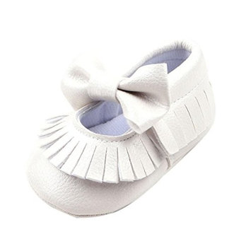 Fulltime(TM) Baby Girls Crib Bowknot Shoes Toddler Prewalker Shoes