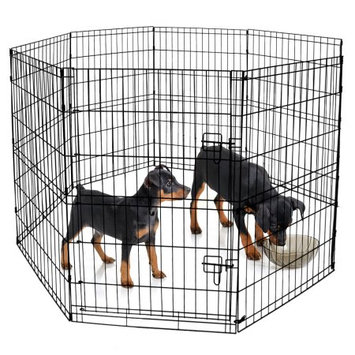 BV Pet Foldable Exercise Pen / Dog Playpen, 8 Panels with Single Door (36