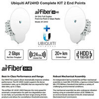 Ubiquiti Networks Ubiquiti AF24HD KIT 2 End Points air Fiber 24HD AF-24HD 24GHz 20km Wrls Backhaul