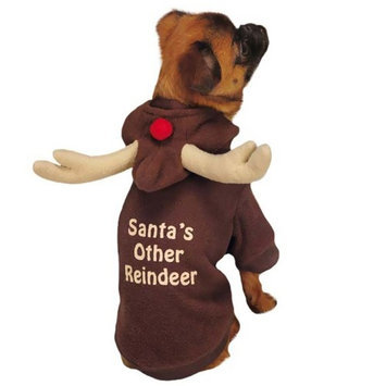 Pet Edge Dealer Services Casual Canine Reindeer Dog Hoodies XLarge