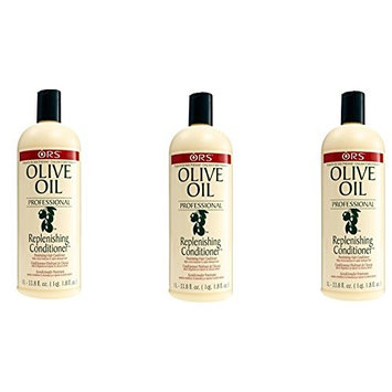 [VALUE PACK OF 3] ORS OLIVE OIL PROFESSIONAL REPLENISHING CONDITIONER 33 OZ : Beauty