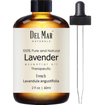 Del Mar Naturals French Lavender Oil, Pure and Natural, Therapeutic Grade Lavender Essential Oil, 2 fl oz