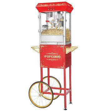 Superior Popcorn Company Superior Popcorn 8 Ounce Classic Carnival Popcorn Popper Machine & Cart, 8 oz