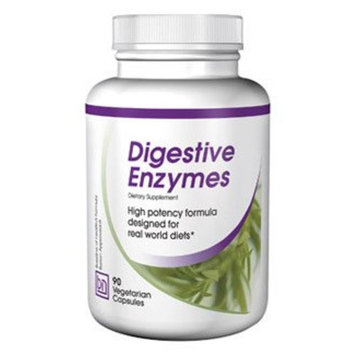 Digestive Enzymes. Complete with Lactase, Amylase, Lipase for Optimum Digestive Health.