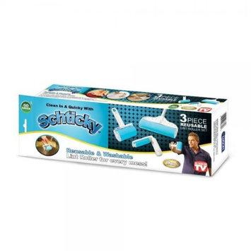 3pc Deluxe Schticky Set Reusable Lint Rollers Extending Handle Dust Pet Hair