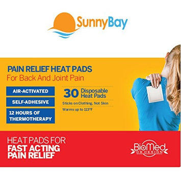 Heat Patches (Pack of 30) for Sore Upper Back, Neck Shoulder Pain Relief & Menstrual Cramps: Air Activated Disposable Self Adhesive Therapy Pads - Personal, Non Electric Deep Muscle Hot Pack Compress