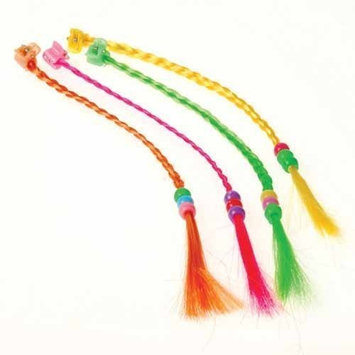 Lot Of 12 Assorted Color Braided Beaded Brightly Colored Faux Hair Pieces