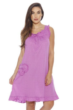 Dreamcrest Nightgown / Women Sleepwear / Womans Pajamas (Bright Purple, Small, Gowns)