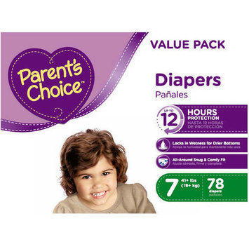 Parent's Choice Diapers, Stage 7: 41+ lbs, 78 Count