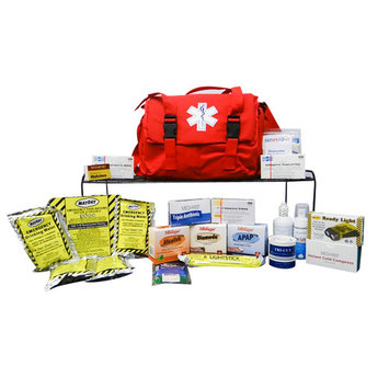 First Aid Responder Medical Supplies of Survival Bag Kit 600 Cubic Inches of Storage FAK-RESPONDER KIT
