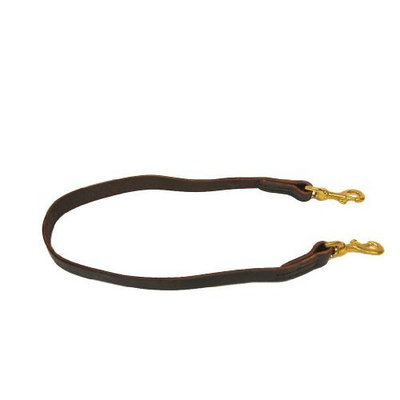 Dean and Tyler Double Snap Stitched Dog Leash, Brown 6-Feet by 3/4-Inch with Solid Brass Snaps.