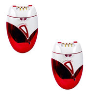 Tonewear Wet/Dry Epilator and Shaver Hair Remover( Red and White)