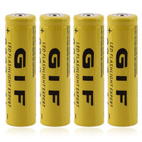 2017 Upgrade Universal 4pcs 18650 3.7V 9800mAh Rechargeable Li-ion Battery + Charger 4 Batteries Yellow
