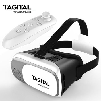 Tagital VR Virtual Reality Headset 3D Glasses Adjust Cardboard VR BOX For Smart Phones iPhone Samsung