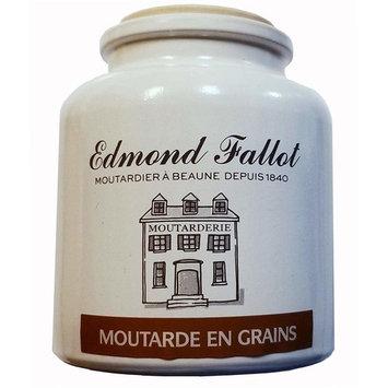 Edmond Fallot Whole Grain Mustard Crock 2 Pack, Moutarde en Grains - Edmond Fallot - 500g Crock With Cork Stopper