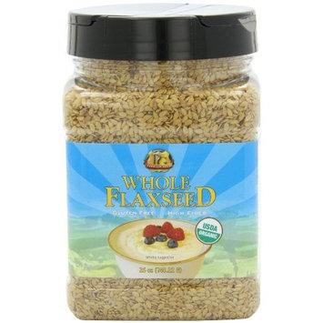 Premium Gold Organic Whole Flax Seed | High Fiber Food | Omega 3 | 26oz 3pk [Organic]