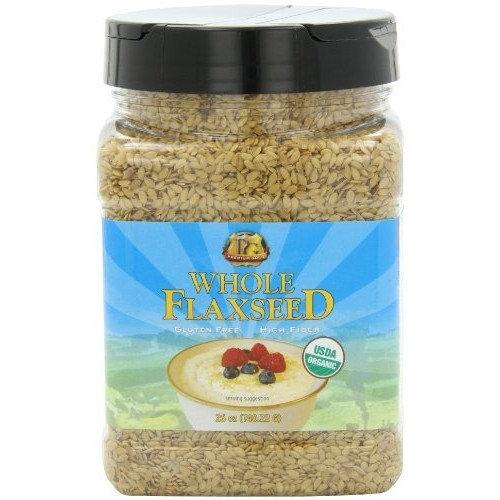 Premium Gold Organic Whole Flax Seed   High Fiber Food   Omega 3   26oz 3pk [Organic]