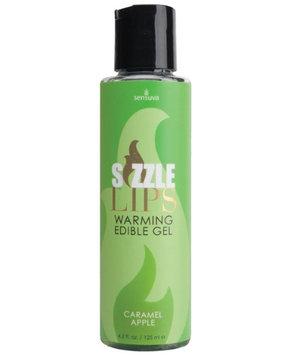 Sensuva Organics Sizzle Lips Warming Gel - 4.2 oz Bottle Caramel Apple