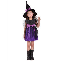 Kintaz Toddler Kids Baby Little Girls Witch Costume Accessory Fairy Halloween Cosplay Party Fancy Dress +Hat Outfit