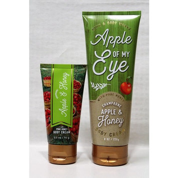 Bath & Body Works - One for home & One for Travel – Body Cream - Set - Champagne Apple & Honey