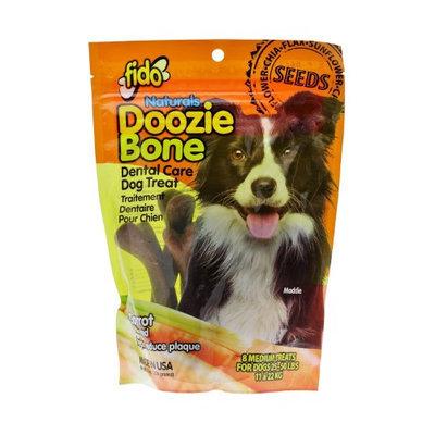 Fido Naturals Doozie Bone - Dental Care Dog Treat, Carrot Flavored, 8ct - Medium Treats (Pack of 3)