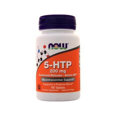 5-HTP 200 mg Sustained Release - Amino SR Now Foods 90 Tabs