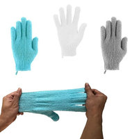 Exfoliating Bath Gloves - 3 Pairs - Total 6 Gloves, ITDOES Bath Scrubber, Body Spa Massage Dead Skin Cell Remover