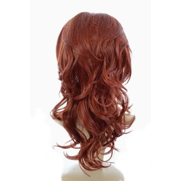 Henna Red Wavy Half Wig Volume TiHaira Hairpiece | Add Extra Length and Volume | Henna Red Hair Extensions