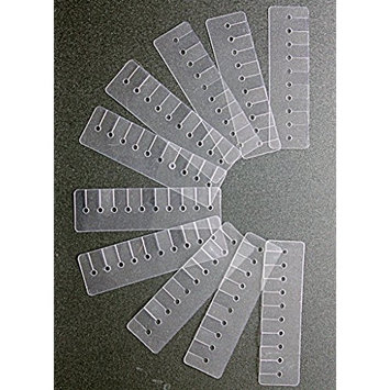 Multi Hole Scalp Shield Heat Protector Strip for Fusion Hair Extensions, 10-Piece Set (10-HOLE)