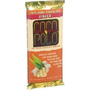 Coco Polo - 70 Dark Chocolate Bar Ginger - 2.5 oz.