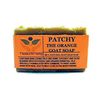 Turmeric Soap With Patchouli Oil Goat Milk and Orange Essential Oil 100% Natural and Handmade Comes in Gift Box Contains Coconut Olive Hemp Oil