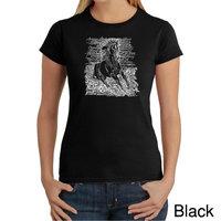 Los Angeles Pop Art Women's Word Art T-shirt - Popular Horse Breeds - Online Exclusive [Fit : Women's]
