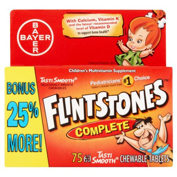 Bayer Flintstones Complete Multivitamin Supplement Tablets for Children - 60 Count