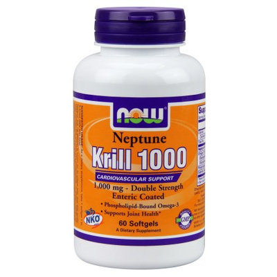 NOW Foods Neptune Krill 1000 Cardiovascular Support 1000 mg Softgels, 60 Ct