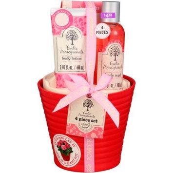 Generic Exotic Pomegranate Bath Gift Set, 4 pc