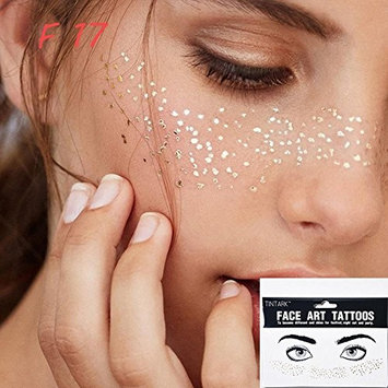 ZHUOTOP 1Sheet Personality Disposable Freckles Makeup Tattoo Stickers Flash Body Art Gold Face Waterproof F17#