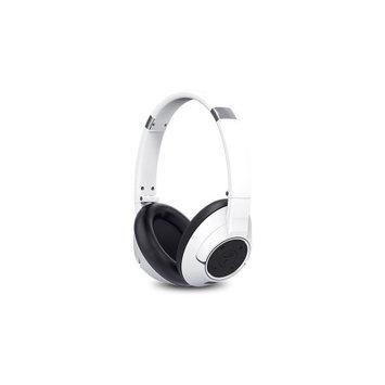 Genius Usa Genius HS-930BT Headset - Stereo - White - Mini-phone - Wired/Wireless - Bluetooth - 32.8 ft - 32 Ohm - 20 Hz - 20 kHz - Over-the-head - Binaural - Circumaural