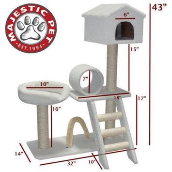 Majestic Pet Products, Inc. Majestic Pet Products 43 Inch Bungalow-Sherpa Cat Tree