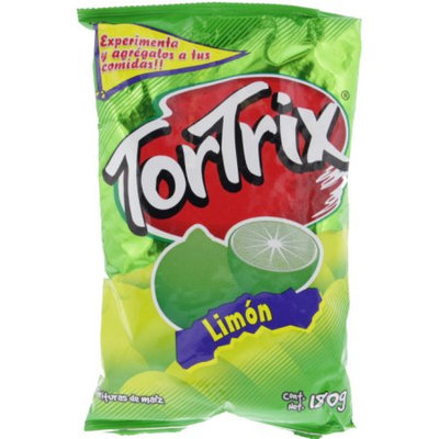 Tortrix Lime Flavored Chips 6.3oz - Limon Chips (Pack of 18)