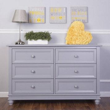 Dream On Me Mia Moda Parkland Double Dresser - Pebble Grey