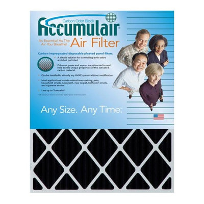 Accumulair Carbon 14x28x2 (13.5x27.5x1.75) Odor eliminating Air Filter/Furnace Filter (4 Pack)