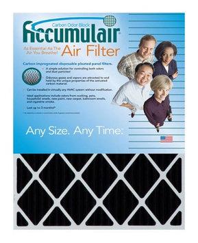 Accumulair Carbon 25x28x0.5 (24.5x27.5x0.5) Odor eliminating Air Filter/Furnace Filter (4 Pack)