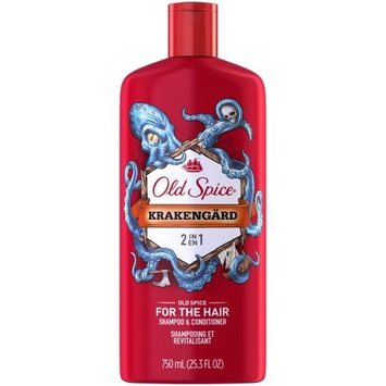 Old Spice 2-In-1 Mens Shampoo & Conditioner Krakengard 25.3 oz.(pack of 12)