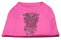 Mirage Pet Products 5227 MDBPK Eagle Rose Nailhead Shirts Bright Pink M 12