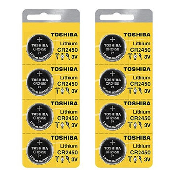 Toshiba CR2450 3 Volt Lithium Coin Battery (8 pcs)
