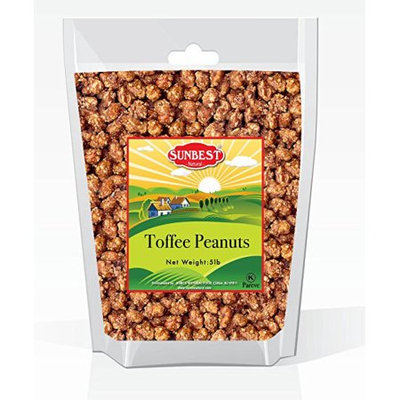 SUNBEST Toffee Peanuts in Resealable Bag (5 Lb)