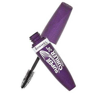 Rimmel London 24 Hour Supercurler Mascara, Extreme Black + FREE LA Cross 71817 Tweezer